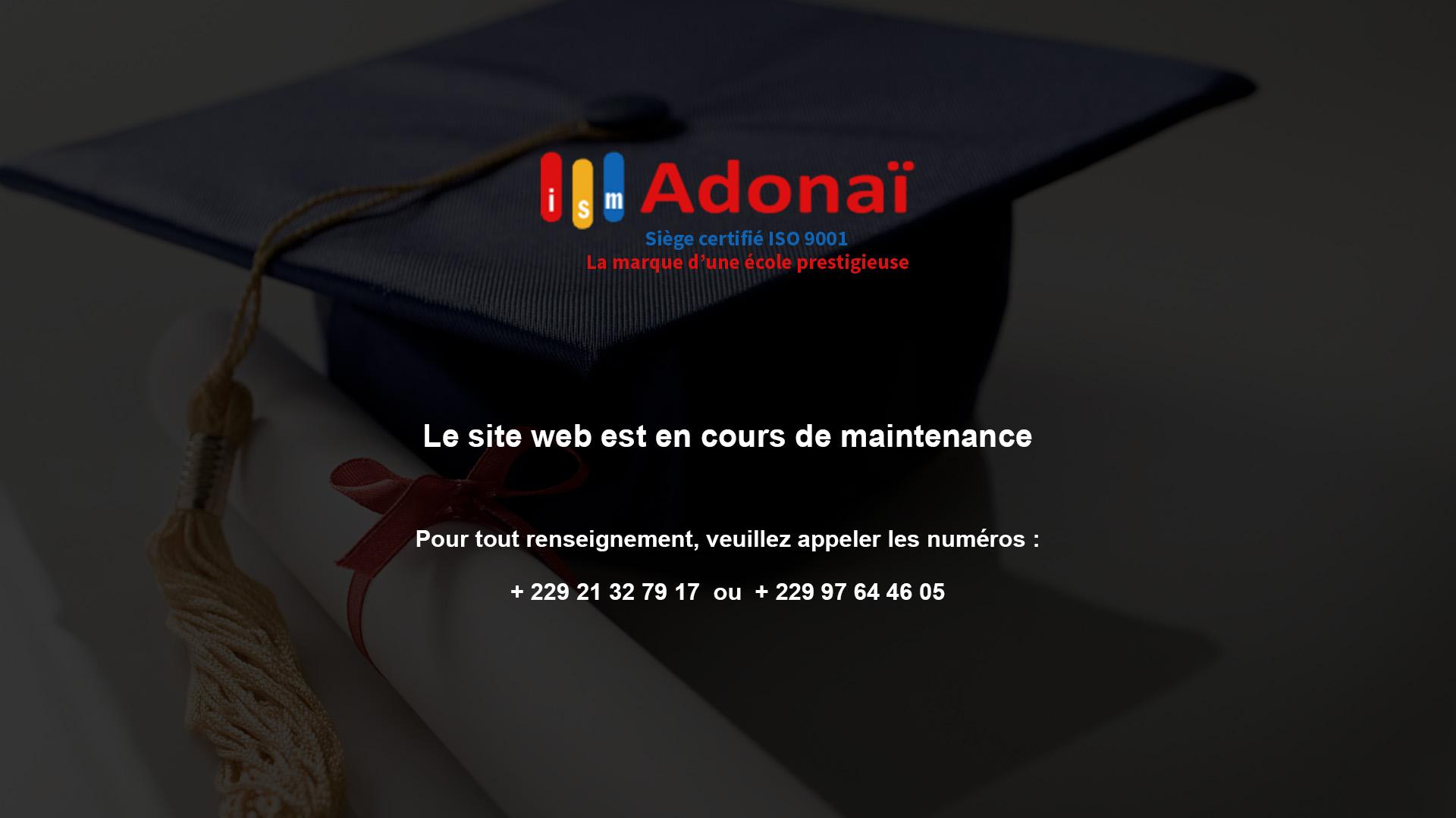 Bienvenue sur le site de ISM Adona�